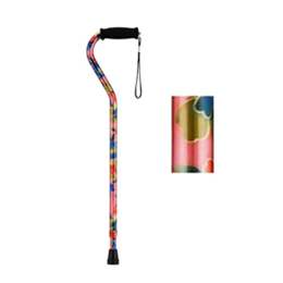 Offset Cane with Strap - Pink Garden - Image Number 38557
