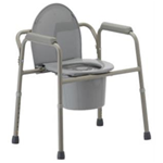3 in 1 Commode - Removing the backrest makes this All-In-One commode a 3 in 1