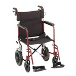 "19"" Transport Chair with 12"" Wheels - Weight Capacity / Wt Cap:      300 l"