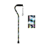 Offset Cane with Strap - Butterflies - Nova Medical's Offset Canes with Strap are clearly a cane favori