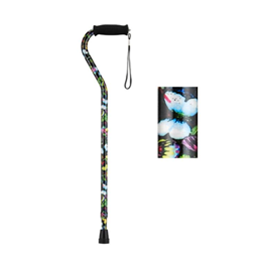 Offset Cane with Strap - Butterflies - Image Number 38556
